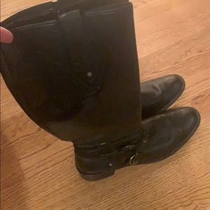 Paul Green tall shaft boots in black